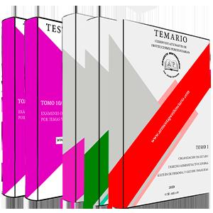 Temario Completo (1, 2 y 3) + Tomos 10 y 11 (test y supuestos oficiales)