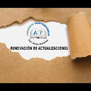 RENOVACIÓN DE ACTUALIZACIONES TEMARIO POR 1 AÑO (TOMOS 1, 2 Y 3)