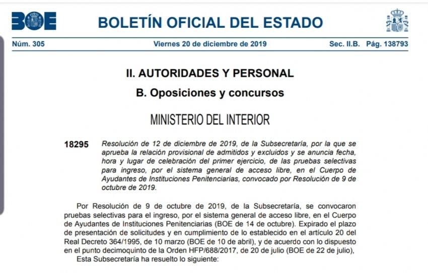 LISTA PROVISIONAL ADMITIDOS/EXCLUÍDOS: PASOS A SEGUIR